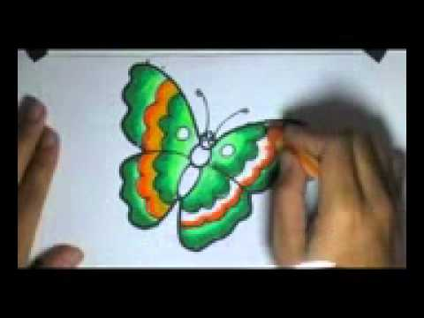 Menggambar dan Mewarnai si KupuKupu Dengan Menggunakan