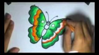 Repeat youtube video Menggambar dan Mewarnai si Kupu-Kupu Dengan Menggunakan Crayon