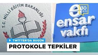 Milli Eğitim Bakanlığı ile Ensar Vakfı arasında yapılan protokole tepki yağdı | Twitter'da Bugün 2017 Video