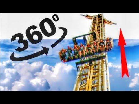 360 videos || Six Flags Roller Coaster VR Simulation