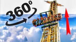 Six Flags Roller Coaster VR Simulation 4K VR 360 Videos