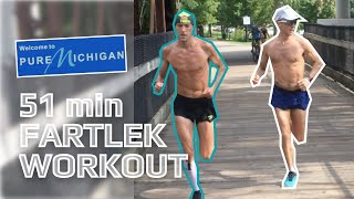 20 MILE DAY! Fartlek session on rail-trail (feat Parker Stinson) |  ENDURE ep. 9