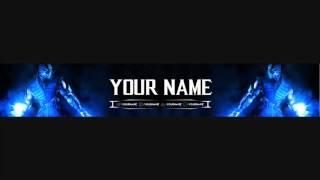 """Бесплатная шапка для вашего канала """"Mortal Kombat"""" [24]"""