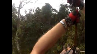 Zip lining at the Gibbon Experience - Huay Xai, Laos