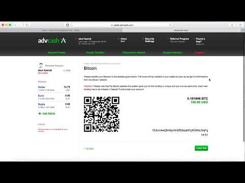 How To Deposit Bitcoin Into Adv Cash