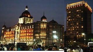 gateway of india mumbai night and day video Taz hotel mumbai video