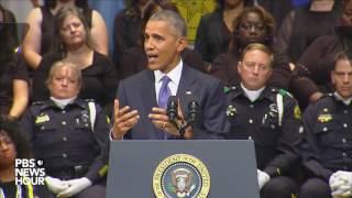 President Obama speaks at Dallas police memorial service