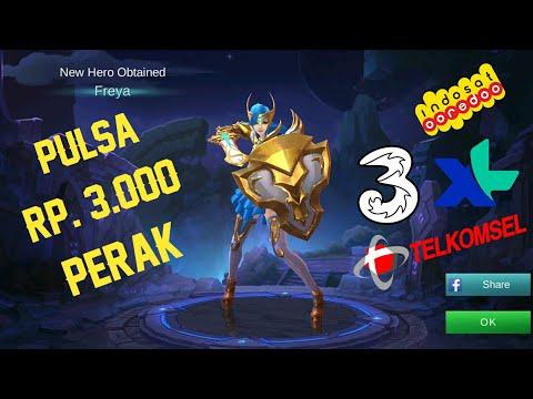Cara membeli Hero Freya dengan Pulsa Rp.3.000,- Semua Operator | Mobile Legends Indonesia