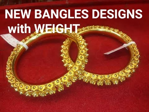 1358397666987 22K/24K Gold Bangles Designs with weight - YouTube
