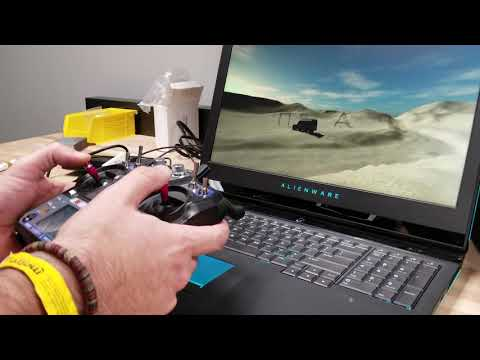 Using FPV Freerider Simulator With A Flysky FS-I6 Transmitter To Learn How To Fly A Quadcopter.