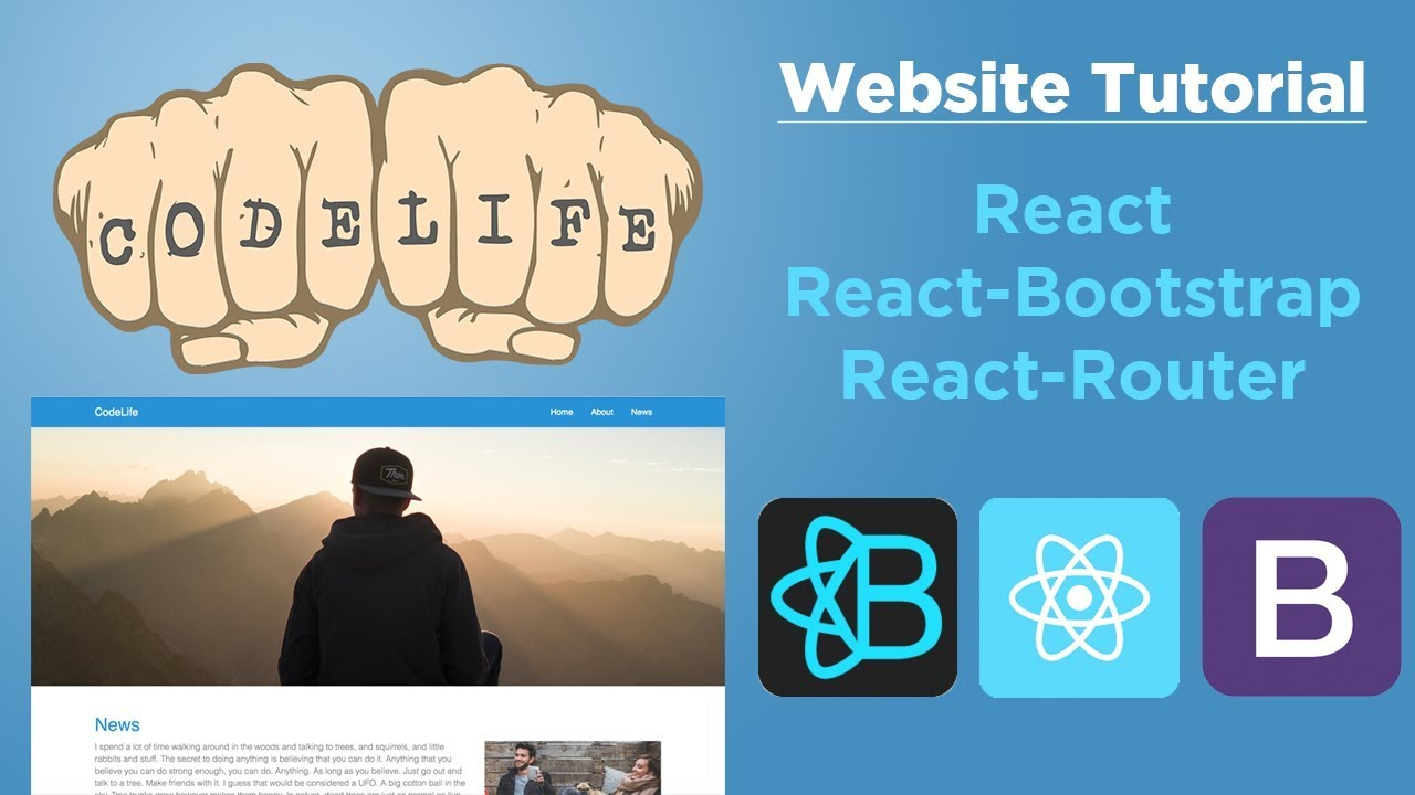 Build a Website with React, React-Bootstrap and React-Router