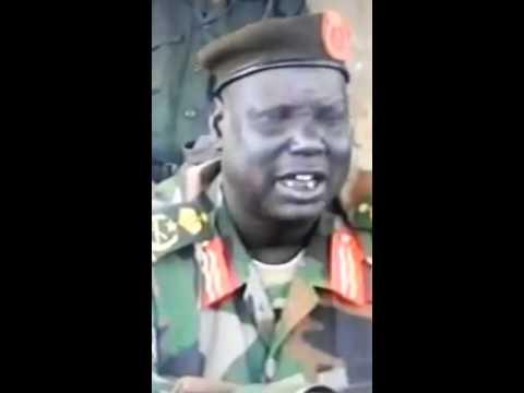 South Sudan. Gen. Gony Bilieu. Spla commanding officer Upper Nile.