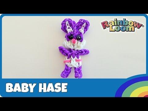 Rainbow Loom Baby Hase - deutsche Anleitung