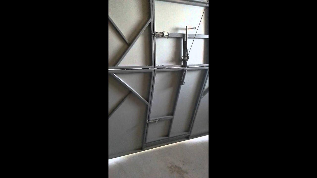 Подъемно-складные ворота своими руками чертежи и фото 910