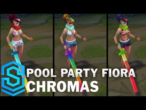 Pool Party Fiora Chroma Skins