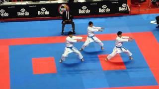 World karate championchips 2014 Bremen kata team male, JPN Kanku sho