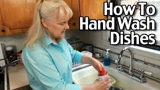 How To Wash Dishes By Hand - Wash Dishes Efficiently Using Less Water