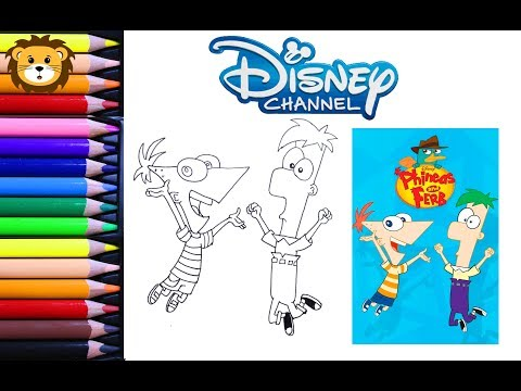 Como Dibujar y Colorear Phineas and Ferb- Draw and Coloring Book for ...