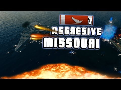Aggresive play on Missouri || World of Warships
