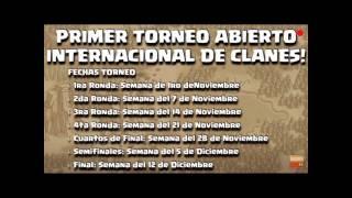 INSCRIPCIONES CERRADAS TORNEO CLASH OF CLANS!!EMPAREJAMIENTOS,CLANES INSCRITOS,FECHA DE INICIO!!