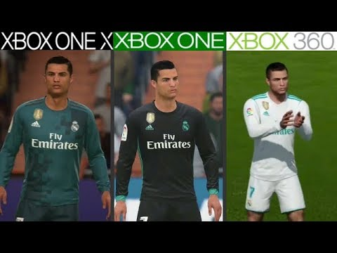 fifa 18 xbox one x vs xbox one vs xbox 360 graphics comparison youtube. Black Bedroom Furniture Sets. Home Design Ideas