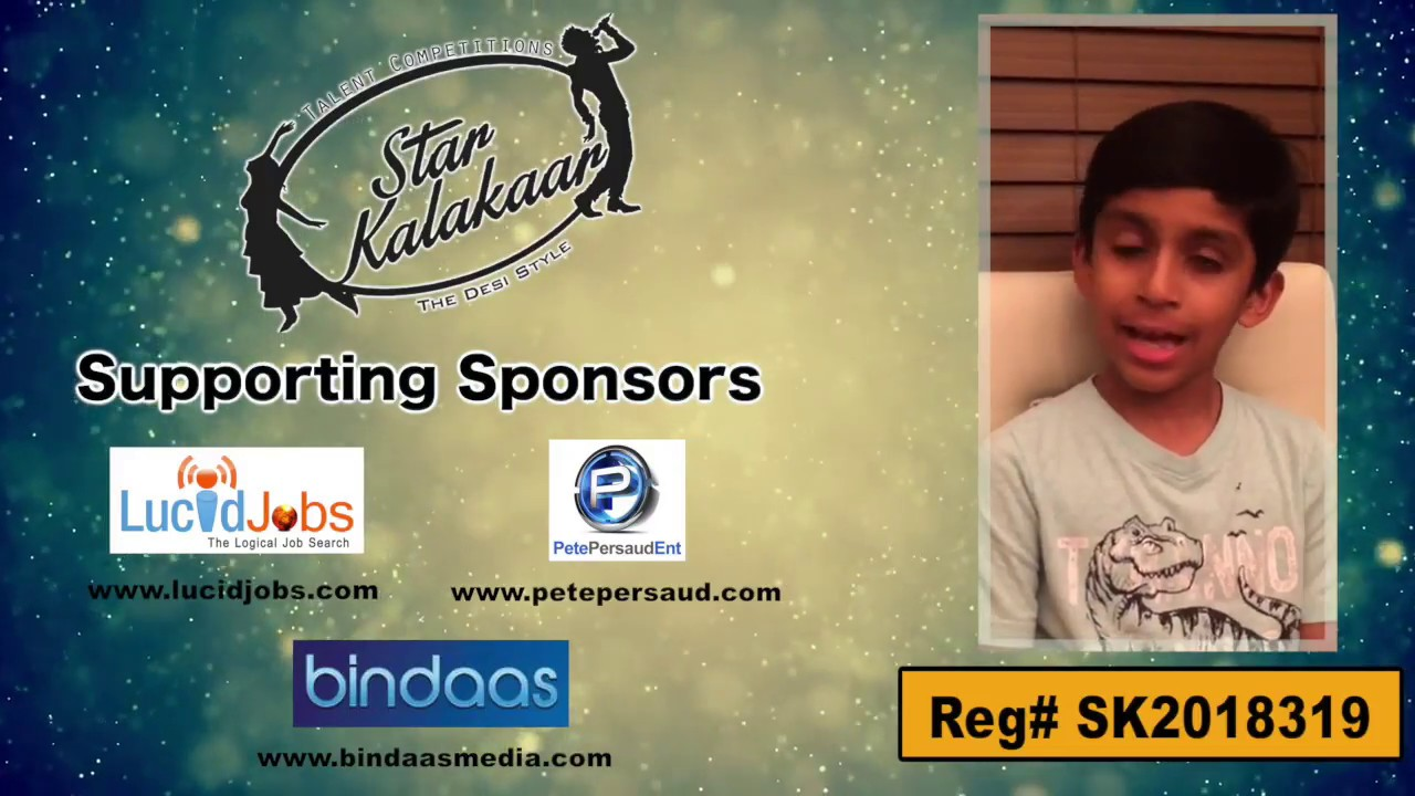 Participant Reg# SK2018-319 Introduction - US Star Kalakaar 2018 || DesiplazaTV
