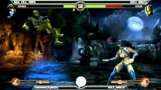 MK9 casuals, GGA 16 Bit (Liu, Kitana) vs GGA HAN (Reptile, Cyrax)