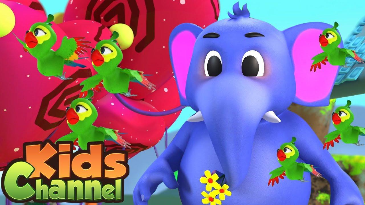 Hathi Raja Kahan Chale | Kids Channel Most Popular 3D Rhymes | हाथी राजा | lalaji aur mobile phone