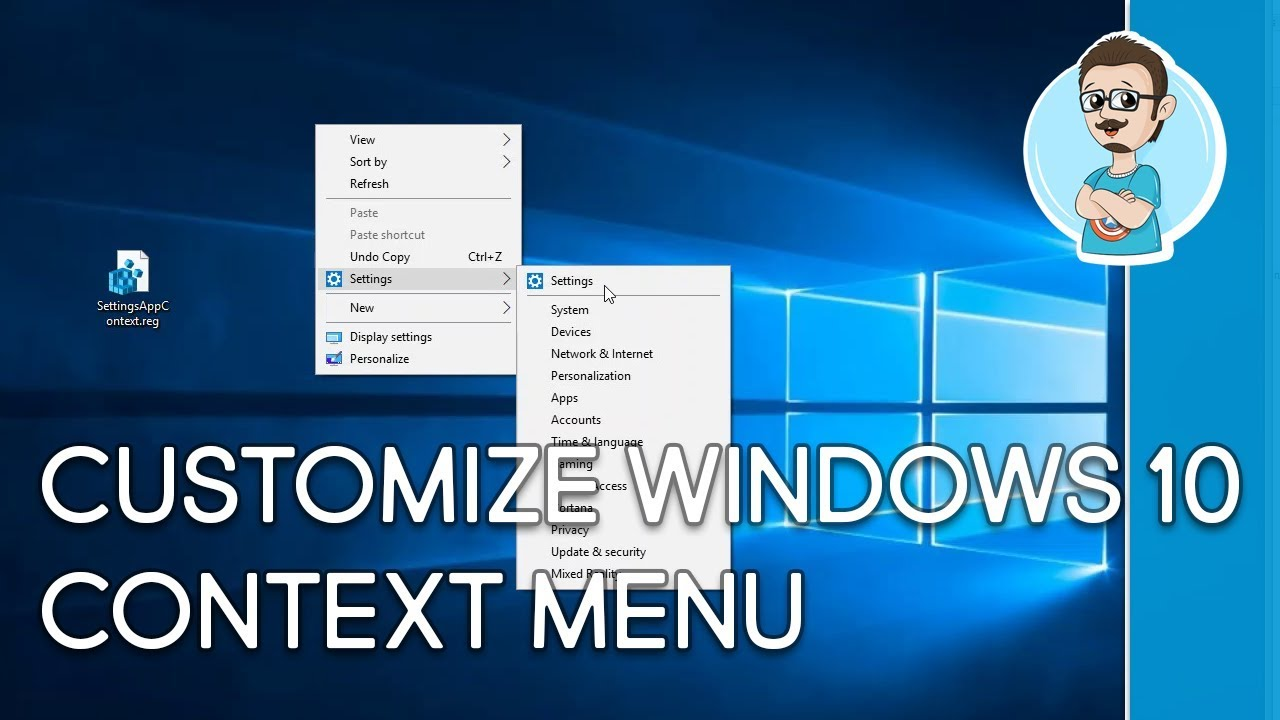 Windows 10   Customize Right-Click Menu With Settings App