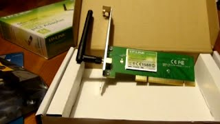 Scheda Wi-Fi TP-LINK TL-WN350GD PCI Adapter 54Mbps Wireless G - Unboxing