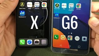 iPhone X vs LG G6 - Speed Test!