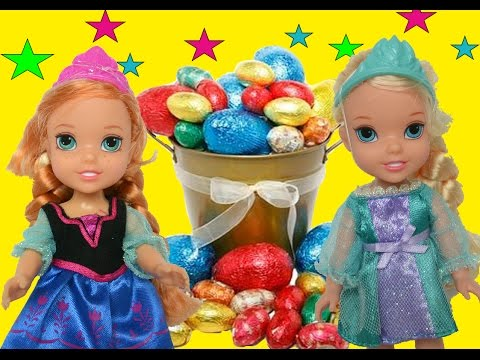 Anna and Elsa Easter Egg Hunt! Kids Play Together Toddlers Surprise Toys & Dolls Stories Annia Elsia