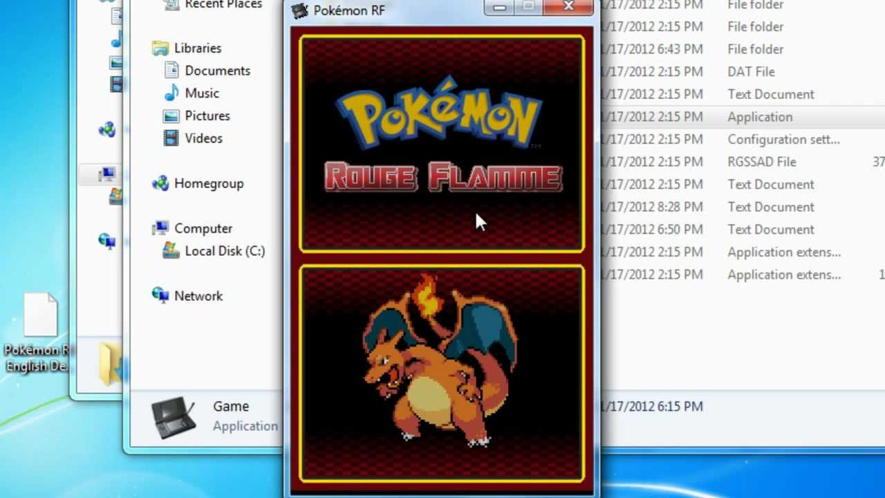 pokemon red nds rom