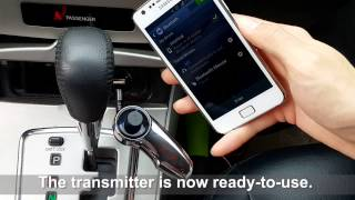 Wireless In-Car Bluetooth FM Transmitter Hands-Free Calling Music w/Charging