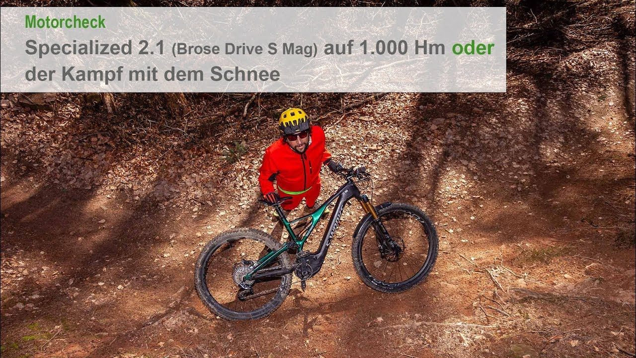 Motortest Specialized 2 1 (Brose Drive S Mag) auf 1 000 Hm