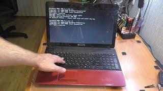 НЕ ЗАГРУЖАЕТСЯ И ПИЩИТ ноутбук PackardBell TS13