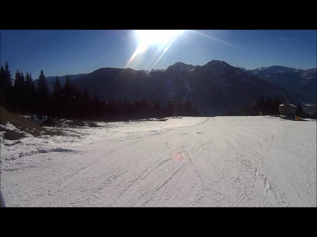 Brixen im Thale afdaling Holzalm richting Jochbahn 15 dec 2016