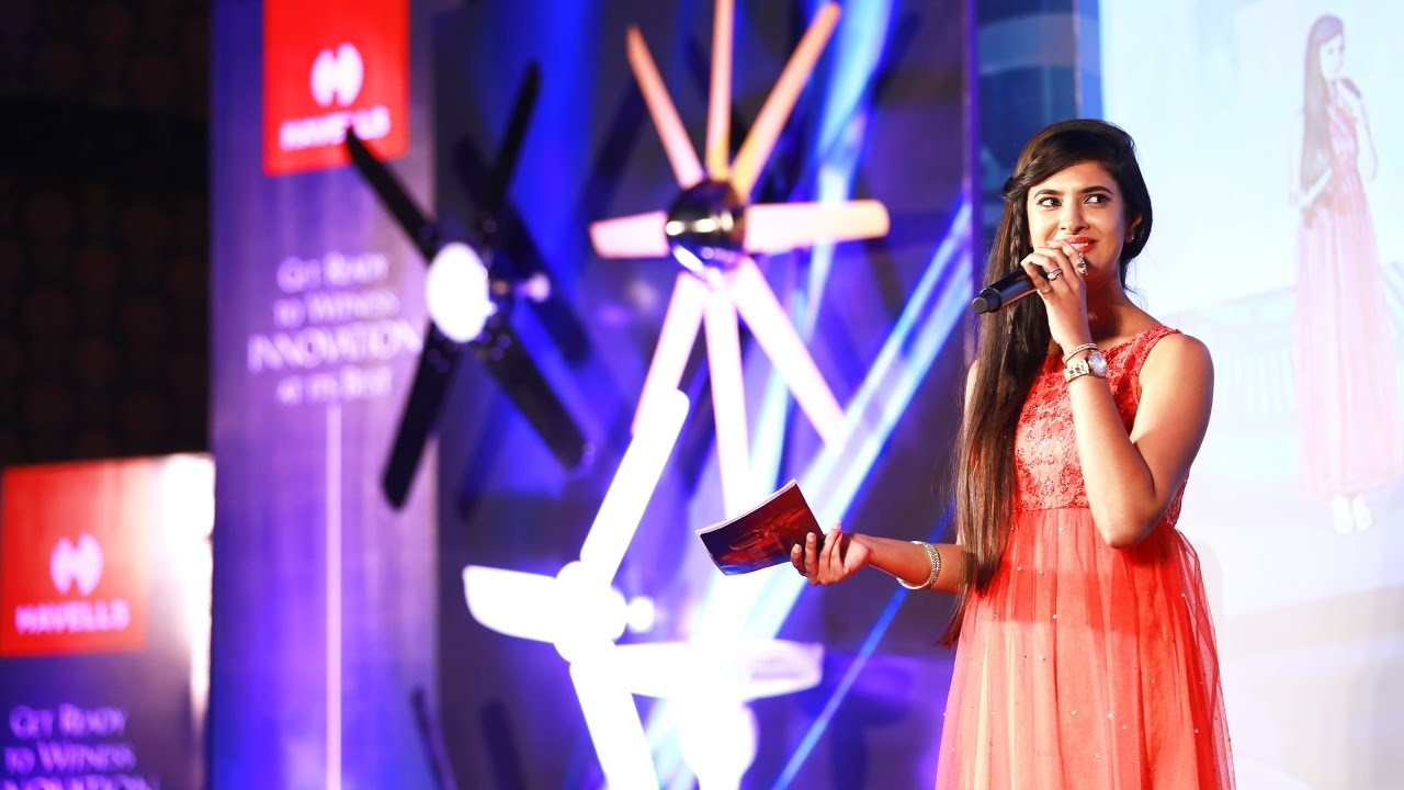 Mc Navyatha Hosting For Havells India 8 Blade Fans Launch