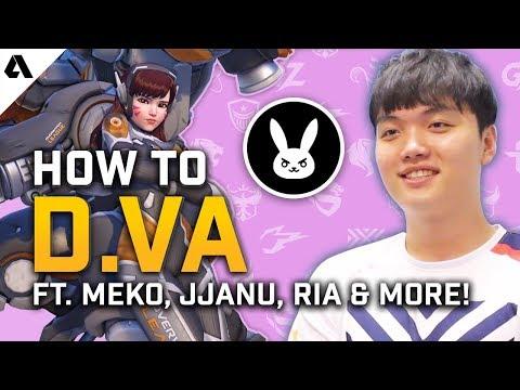 How To D.Va Like The Pros | Overwatch League Hero Tips ft. Meko, JJANU, Choihyobin & Ria