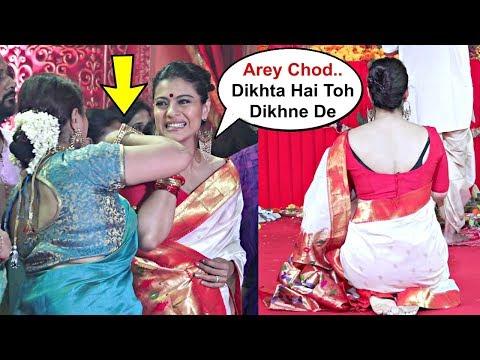Sharbani Mukherjee Tries To Save Kajol From Embarrassing Moment At Durga Puja 2018
