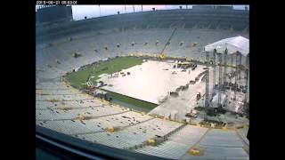 Kenny Chesney at Lambeau Field - Time lapse