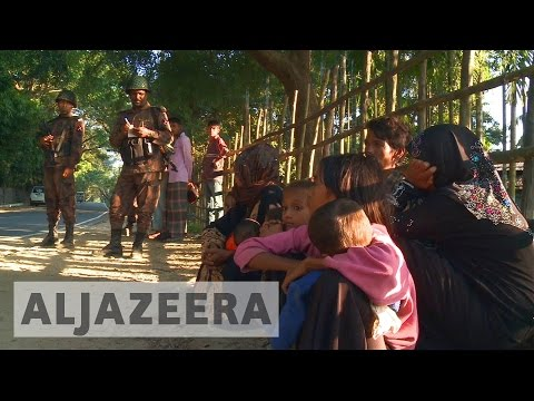 Rohingya refugees seeking sanctuary in Bangladesh