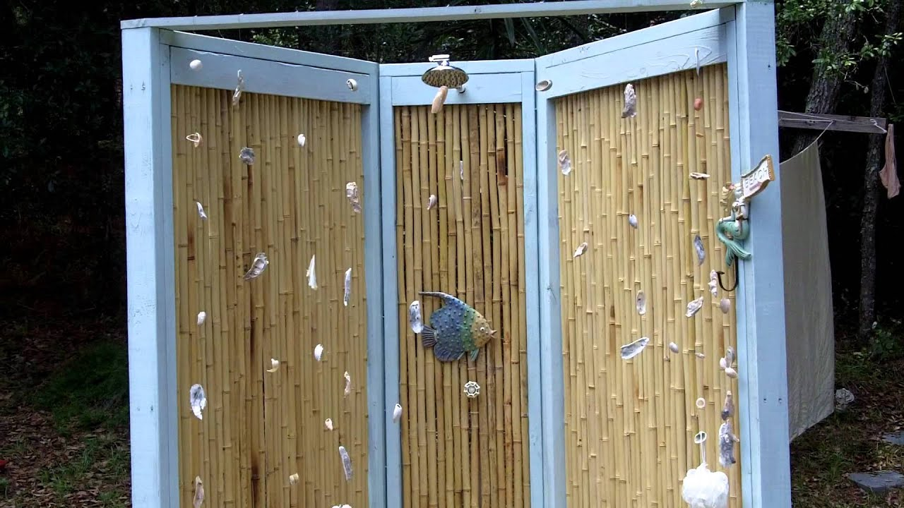 Outdoor Bamboo Shower You