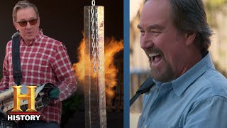 Assembly Required: Tim Allen and Richard Karn Test FIRE-BREATHING Leaf Blowers (Season 1) | History