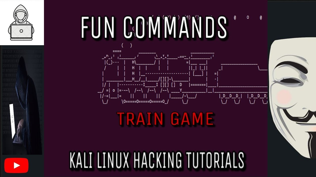 Kali Linux fun command (Train Game)