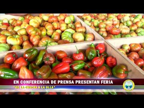 EN CONFERENCIA DE PRENSA PRESENTAN FERIA DE LA CHACRA A LA OLLA
