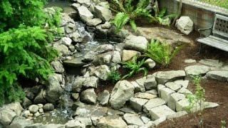 Оформление клумбы камнями