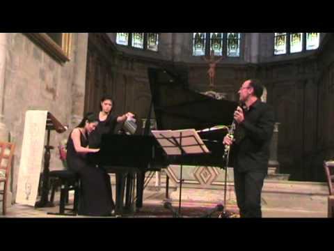 Concertino opus 26 Weber Philippe Berrod clarinette Shoko Gamo piano Nantua 2012