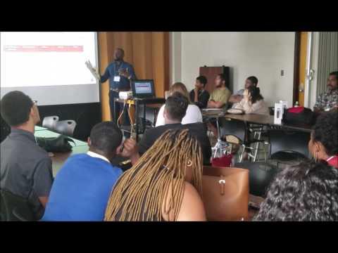 Richard Madumere presents at Workshop