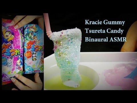 ASMR: Kracie Gumi Tsureta DIY Gummy Candy Kit (Grape and Soda Flavored) Binaural Sound Snack